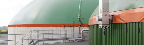 Biogas plant cupola (Photo: next kraftwerke GmbH)