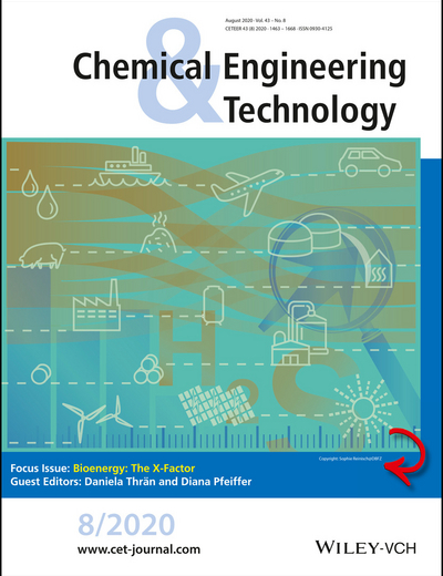 Cover picture of the journal Chemical Engineering Technology, volume 8/2020