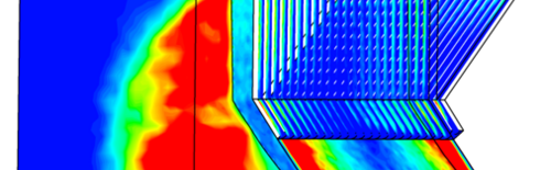 CFD simulation of the slagging in the biomass furnace (Source: EVT)