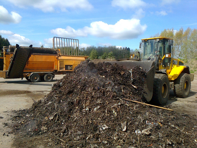 Composting of digestate (Source: GICON)