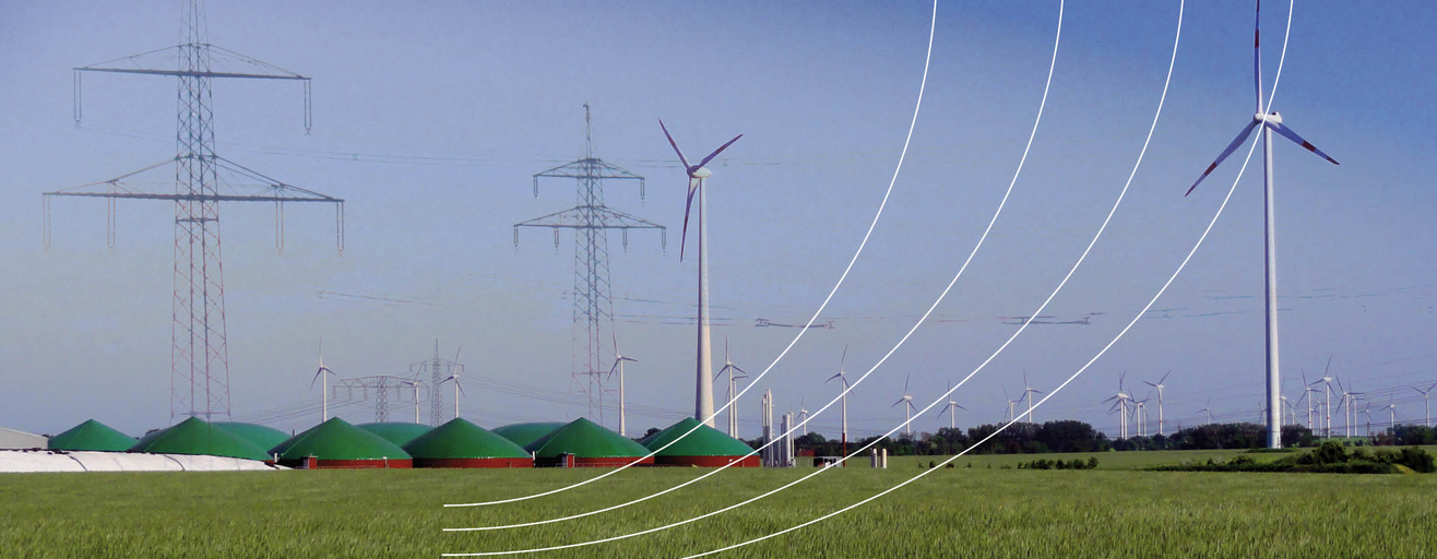 System integration: Electricity form biogas and wind power plants (Photo: DBFZ)