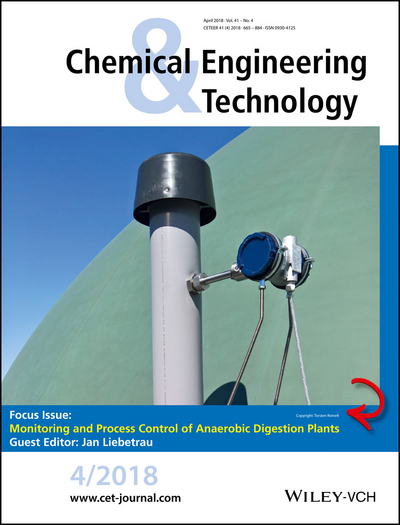 Cover of the journal Chemical Engineering Technolology 4/2018 (Copyright: Torsten Reinelt, DBFZ)