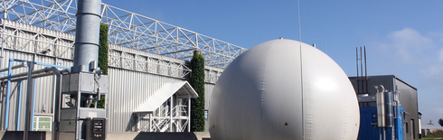 Biowaste anaerobic digestion plant (garage-type dry digestion) (Photo: VIVO)