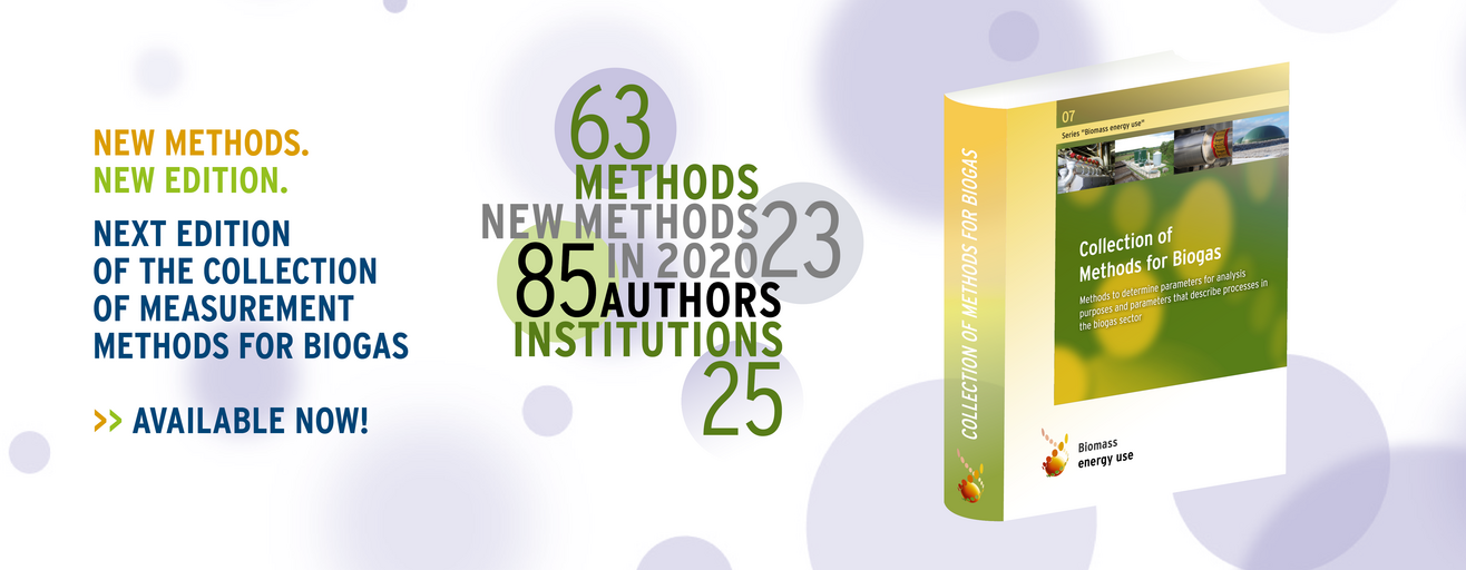 Header of the measurement method collection Biogas, newest edition 2020